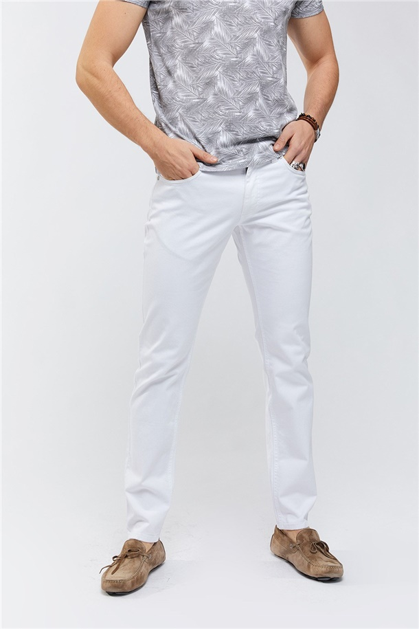 5 Cepli Düz Slim Fit Pantolon
