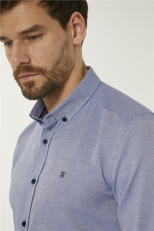 Oxford Düğmeli Yaka Slim Fit Gömlek