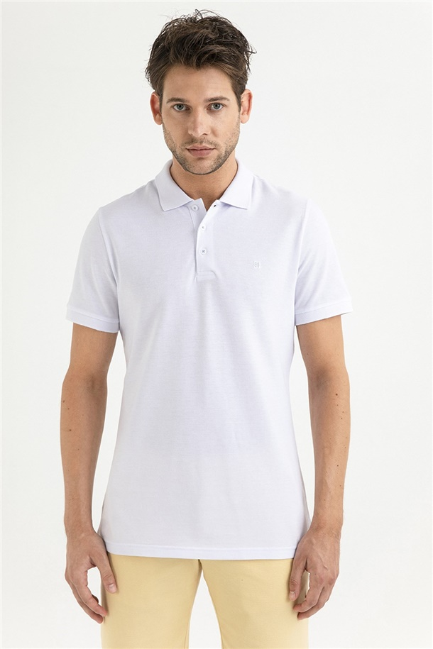 Polo Yaka Düz T-Shirt