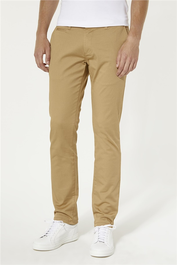 Yandan Cepli Basic Slim Fit Pantolon